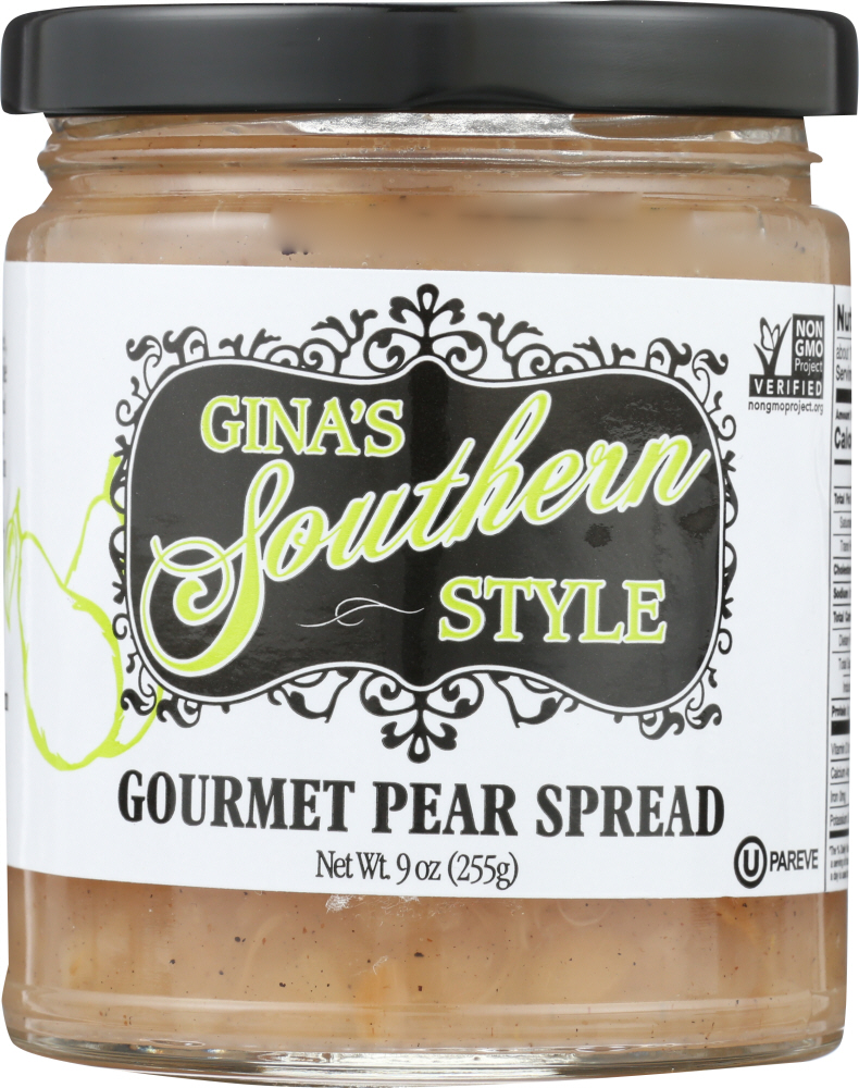 GINAS SOUTHERN STYLE: Gourmet Pear Spread, 9 oz