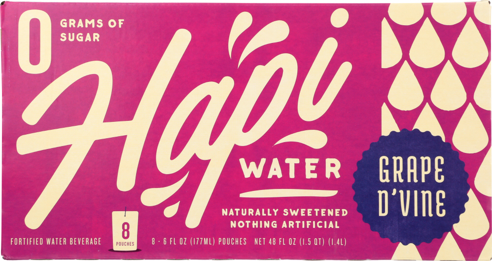 HAPI DRINKS: Water Grape Hapi, 8 pk