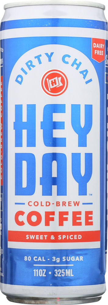 HEYDAY COLD BREW: Coffee Cold Brew Dirty Chai, 11 oz