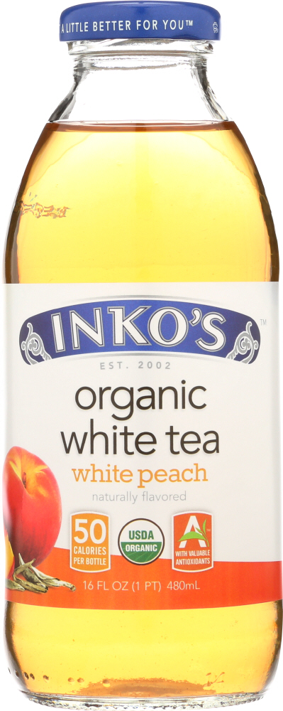 INKOS: Organic White Tea Peach, 16 oz