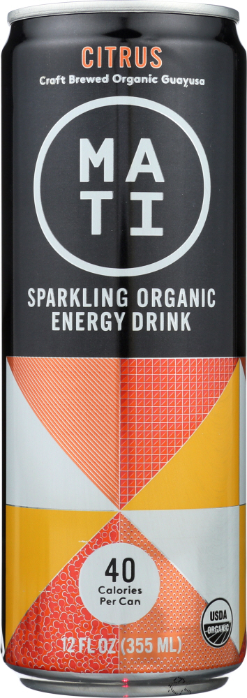 MATI ENERGY: Drink Energy Citrus, 12 oz