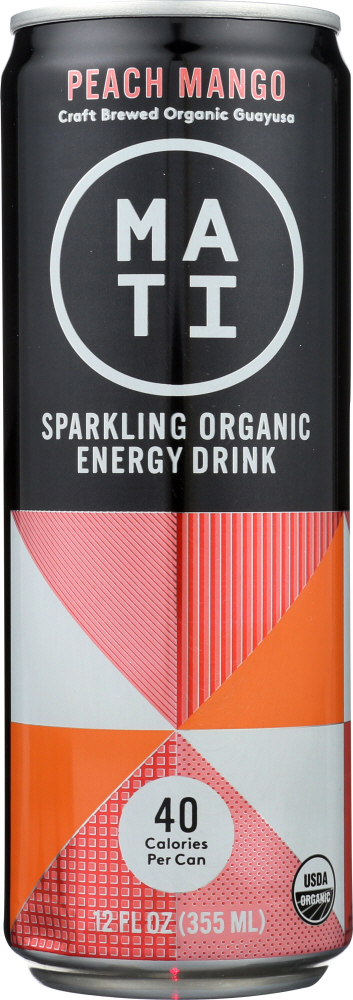 MATI ENERGY: Drink Energy Peach Mango, 12 oz