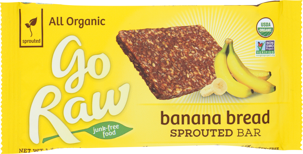 GO RAW: Organic Banana Bread Sprouted Bar, 1.2 oz