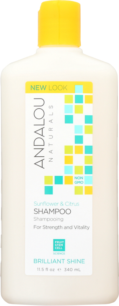 ANDALOU NATURALS: Brilliant Shine Shampoo Sunflower and Citrus, 11.5 Oz