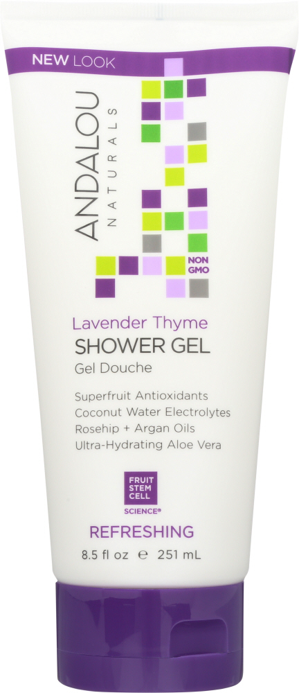 ANDALOU NATURALS: Shower Gel Refreshing Lavender Thyme, 8.5 oz