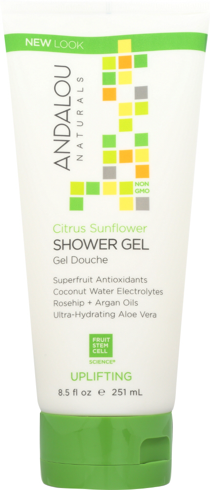 ANDALOU NATURALS: Shower Gel Uplifting Citrus Verbena, 8.5 oz
