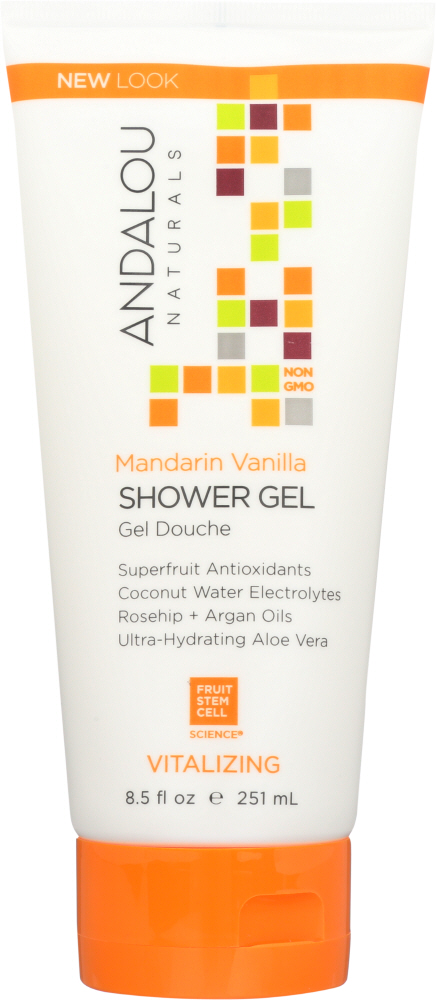 ANDALOU NATURALS: Shower Gel Vitalizing Mandarin Vanilla, 8.5 oz