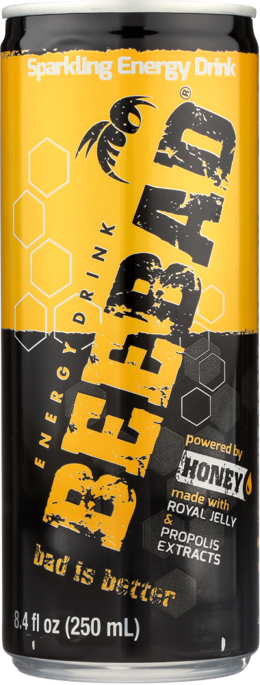 BEEBAD: Sparkling Energy Drink, 8.4 oz