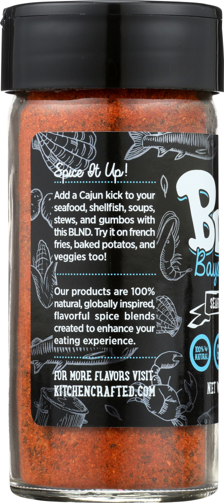 KITCHEN CRAFTED: Bayou Catch Blnd Seafood Seasoning, 2.2 oz