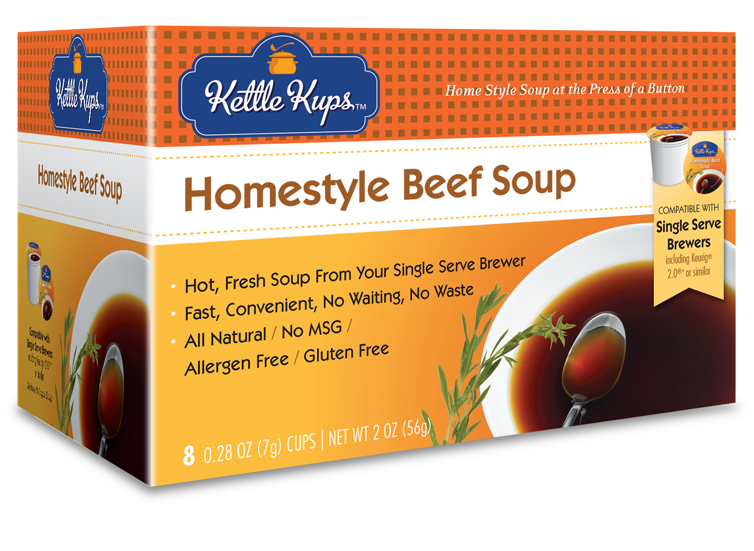 KETTLE KUPS: Soup Beef, 8 pc