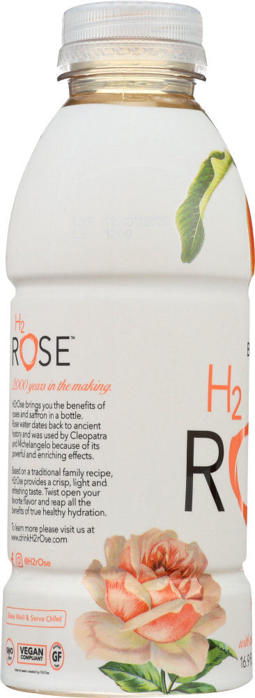 H2ROSE: Peach Rose Water Beverage, 16.9 fl oz