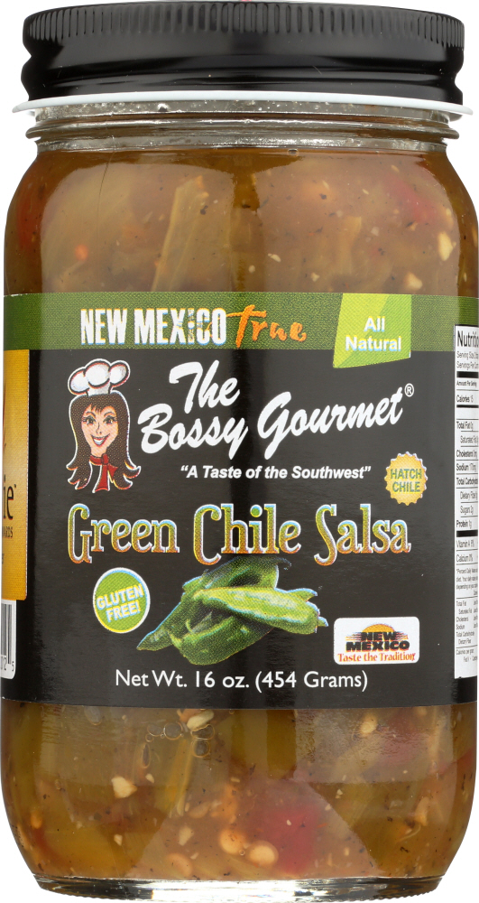 THE BOSSY GOURMET: Salsa Green Chile, 16 oz