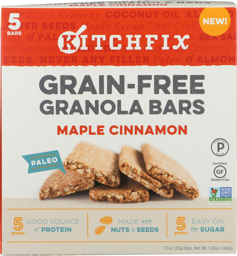 KITCHFIX: Bar Grain Free Maple Cinnamon, 5.85 oz