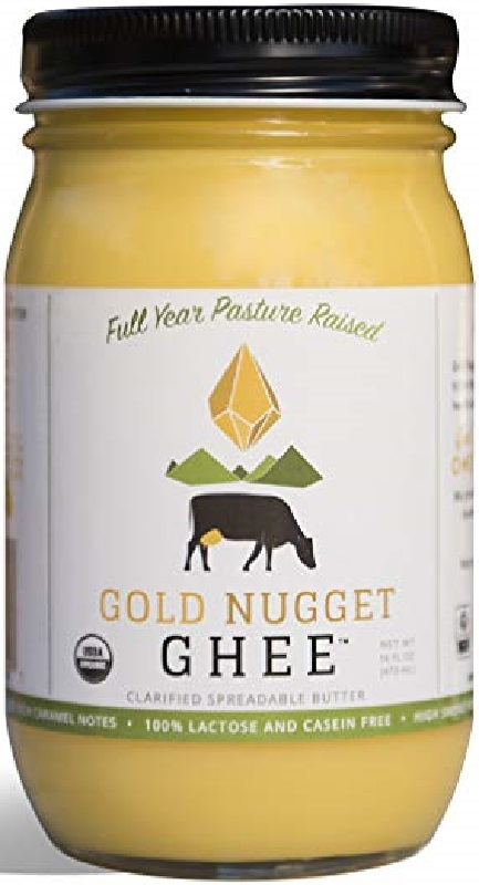 GOLD NUGGET GHEE: Ghee Butter Traditional Pastured Raised, 16 oz