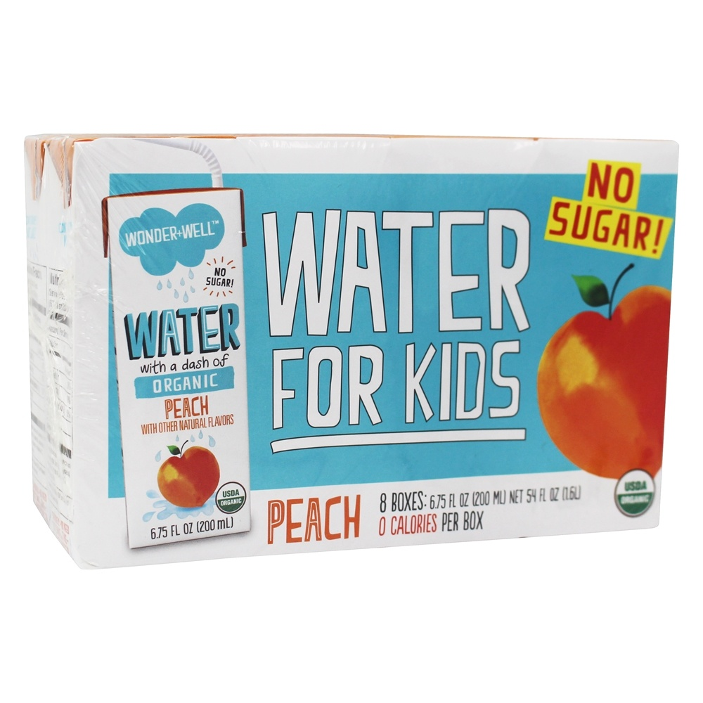 WONDER WELL: Organic Water with a Dash of Peach Pack of 8, 54 oz