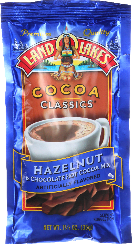 LAND O LAKES: Hazelnut and Chocolate Cocoa Mix, 1.25 oz