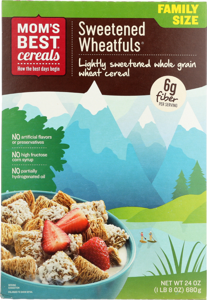 MOMS BEST: Sweetened Wheat-Fuls Whole Grain Cereal, 24 oz