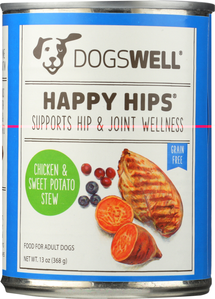 DOGSWELL: Happy Hips Dog Food Chicken and Sweet Potato, 13 oz