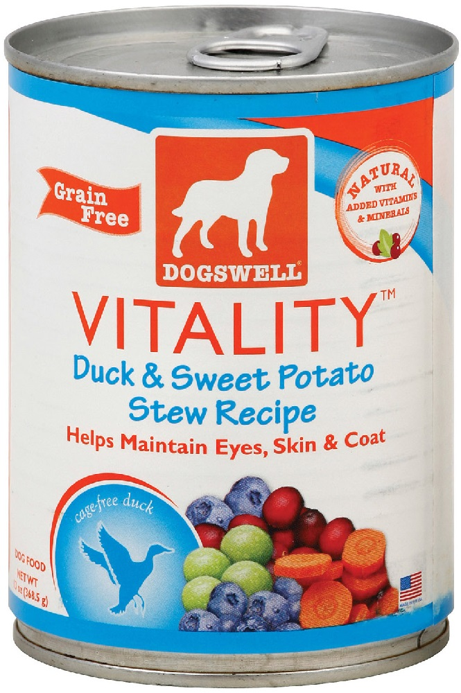 DOGSWELL: Treat Vitality Duck and Sweet Potato, 13 oz