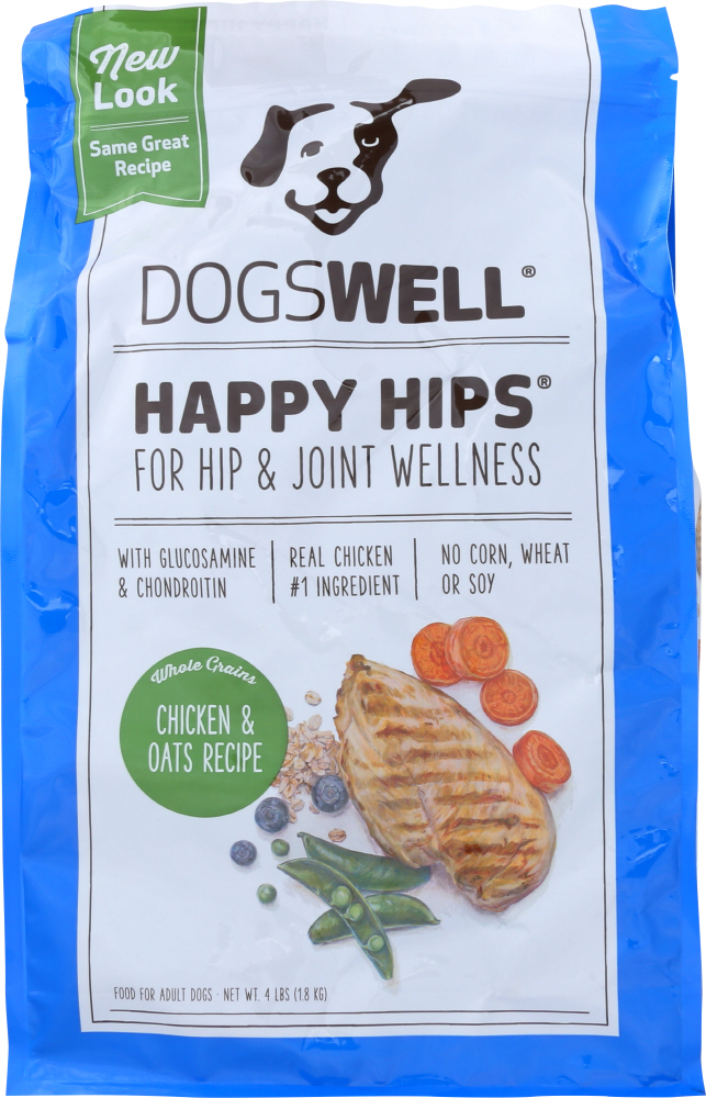 DOGSWELL: Treat Happy Hips Chicken and Oats Recipe, 4 lb
