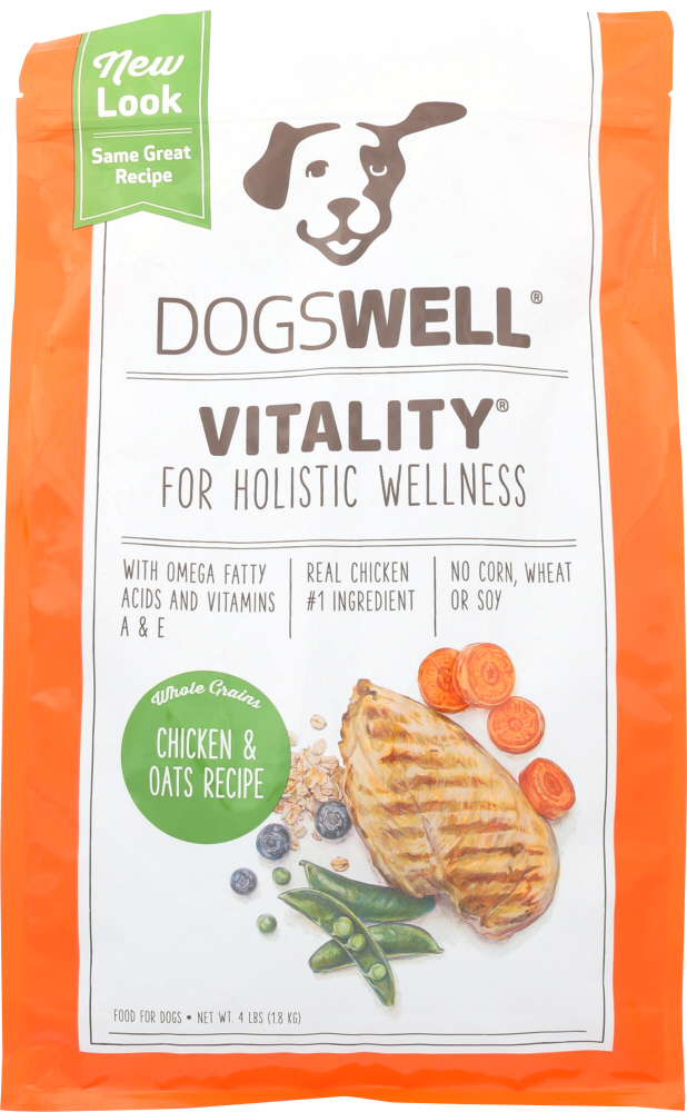 DOGSWELL: Treat Vitality Chicken and Oats, 4 lb