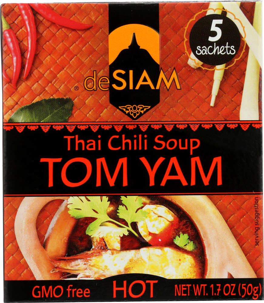 DESIAM: Tom Yam Thai Chili Soup, 1.7 oz