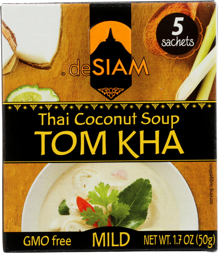 DESIAM: Tom Kha Thai Coconut Soup Instant, 1.7 oz