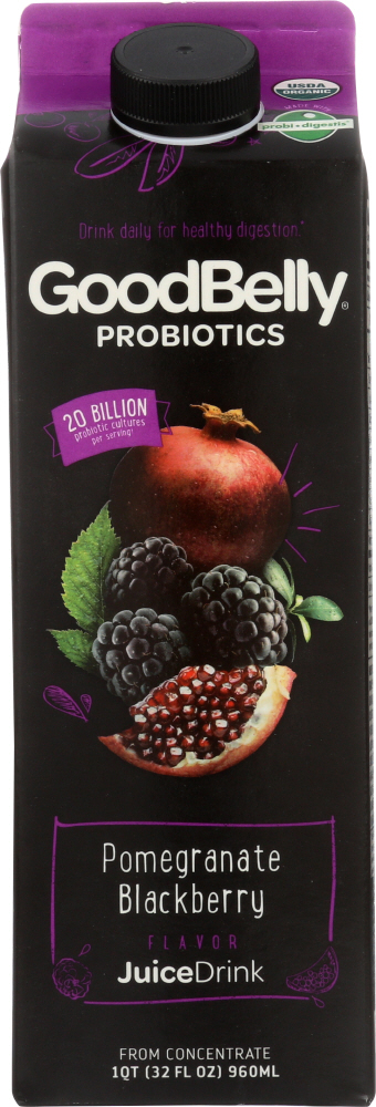 GOOD BELLY: Probiotic Juice Drink Pomegranate Blackberry, 32 oz