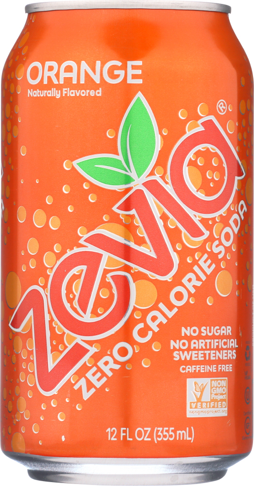 ZEVIA: All Natural Zero Calorie Soda Orange 6-12 fl oz, 72 fl oz