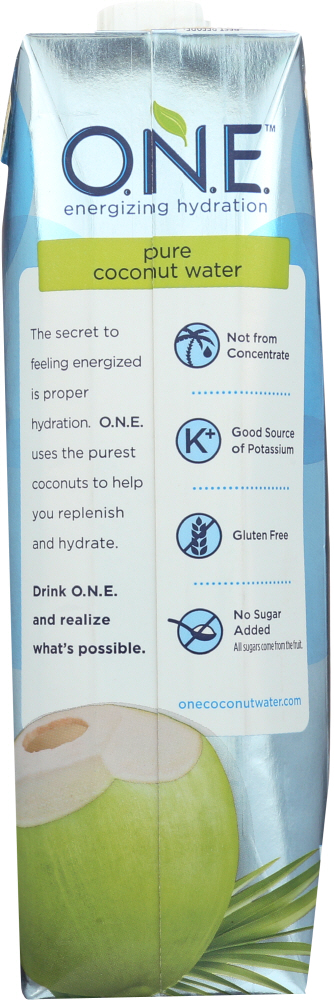 O N E: Pure Coconut Water 100% Natural, 1 lt
