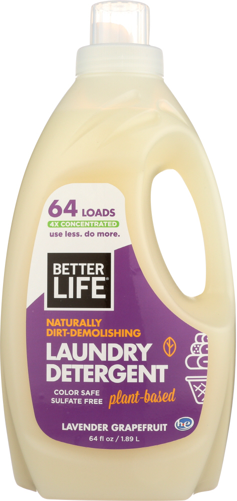 BETTER LIFE: Detergent Laundry Lavender Grapefruit, 64 oz