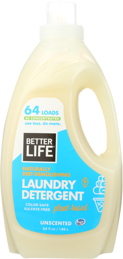 BETTER LIFE: Detergent Laundry Unscented, 64 oz