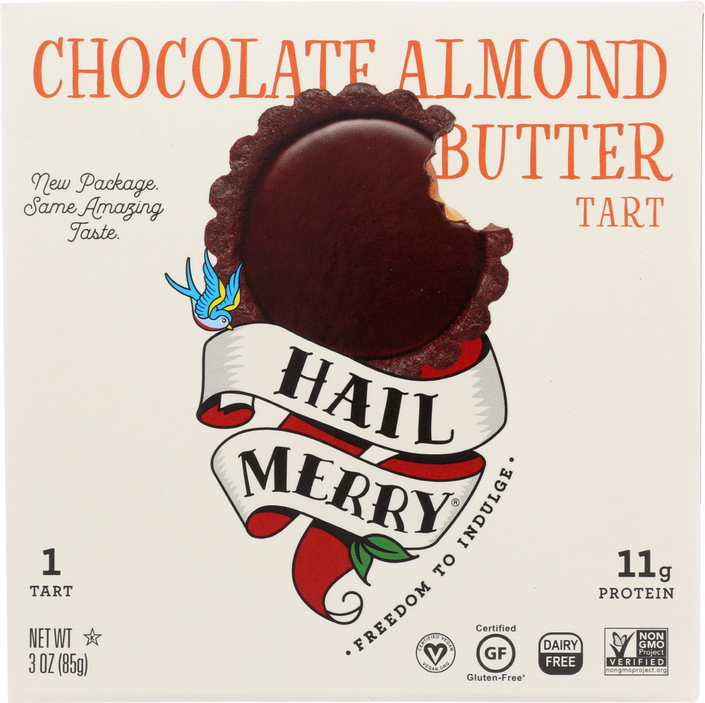 HAIL MERRY: Miracle Tart Gluten Free Chocolate Raw Almond Butter, 3 oz