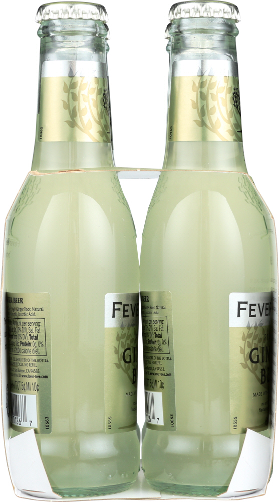 FEVER-TREE: Premium Ginger Beer 4x6.8 oz Bottles, 27.2 oz