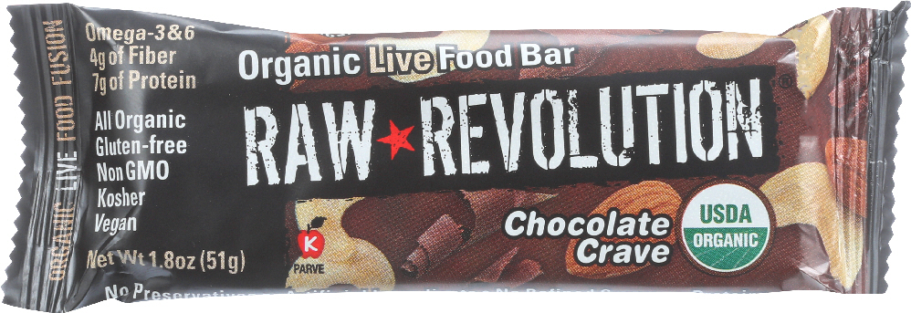 RAW REVOLUTION: Organic Live Food Bar Chocolate Crave, 1.8 oz