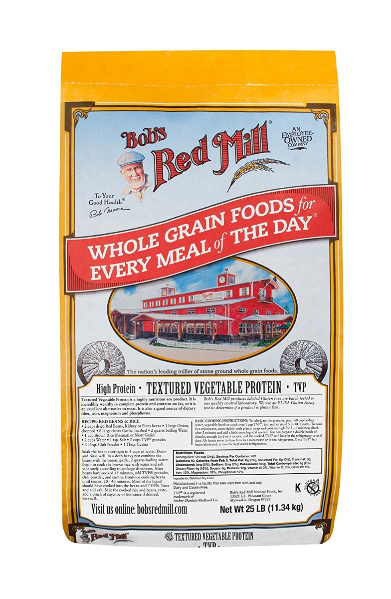 BOBS RED MILL: Textured Vegetable Protein, 25 lb