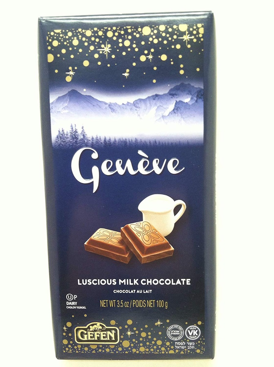GEFEN: Geneve Luscious Milk Chocolate Bar, 3.5 oz