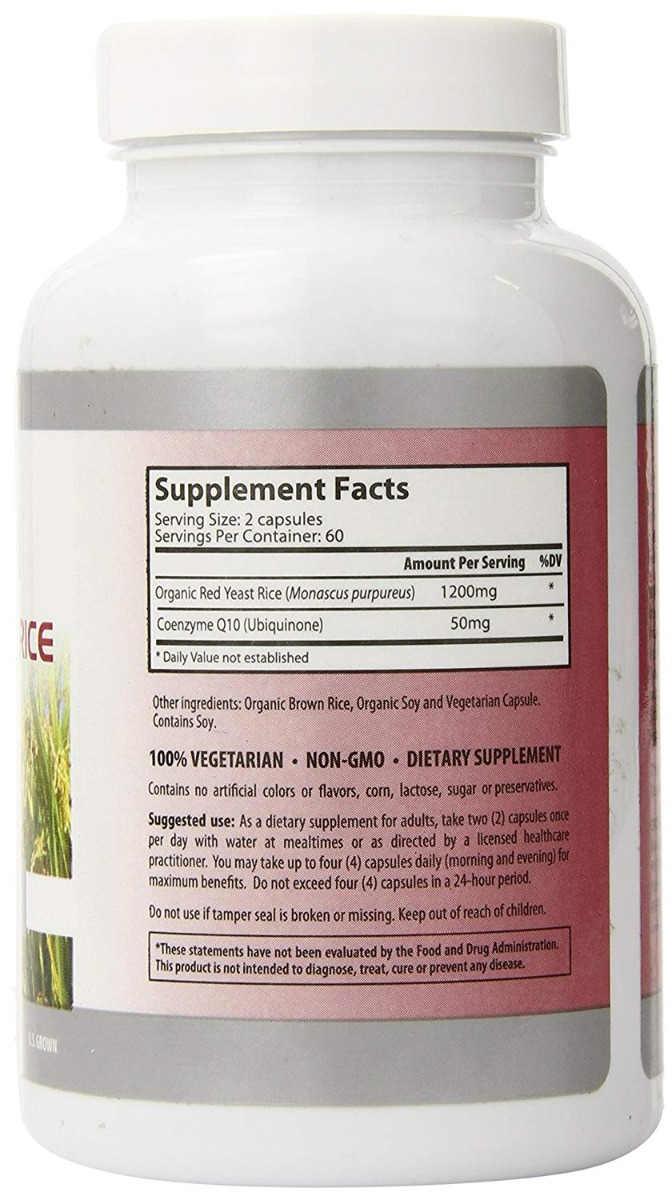 SYLVAN WELLNESS: Red Yeast Rice 120 with CoQ10, 120 cp