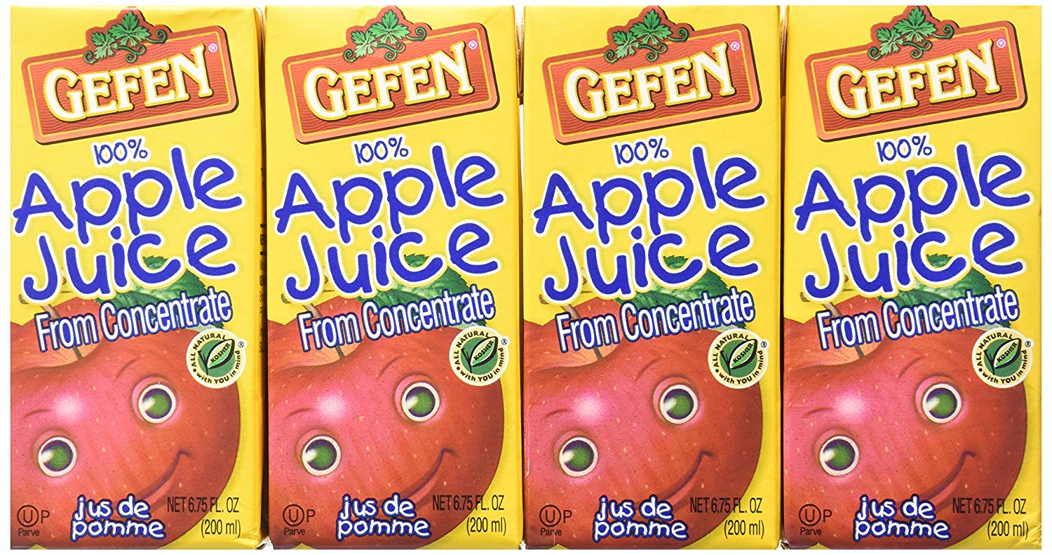 GEFEN: Apple Juice from Concentrate 4 Pack, 27 fl oz