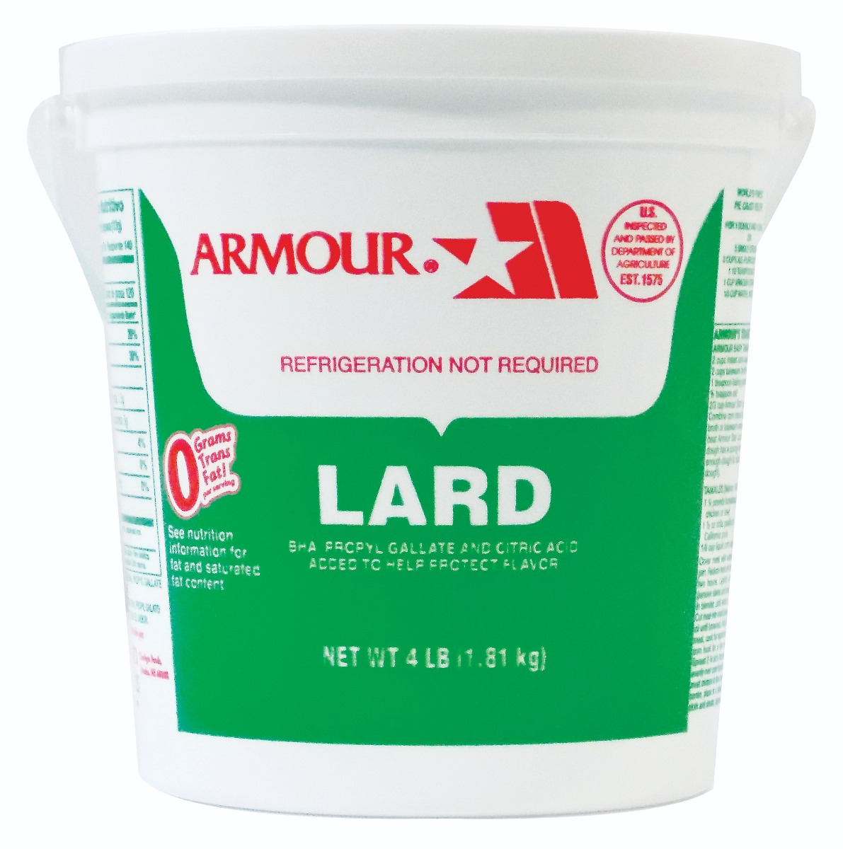 ARMOUR: Lard in Pail, 4 lb
