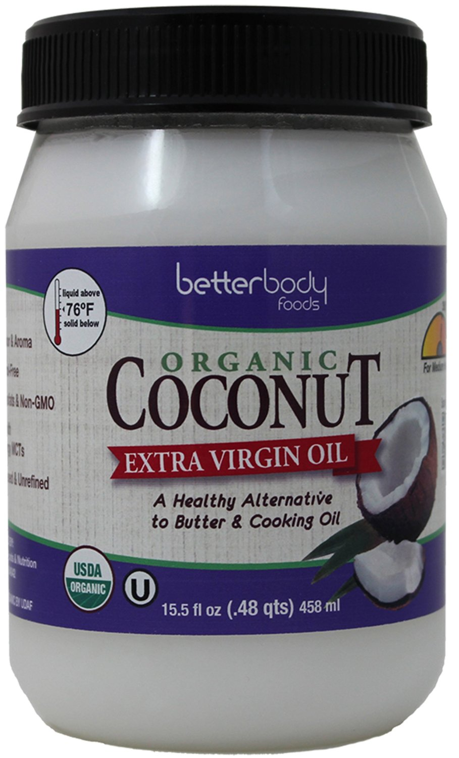 BETTERBODY FOODS: Organic Extra Virgin Coconut Oil, 15.5 oz