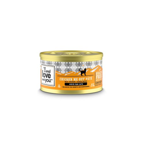 I&LOVE&YOU: Chicken Me Out Recipe Cat Food Can, 3 oz