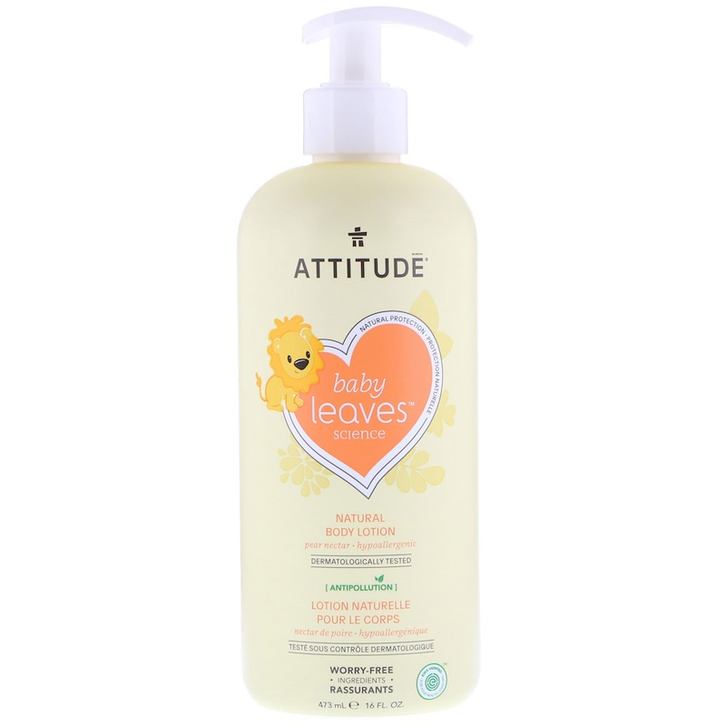 ATTITUDE: Baby Leaves Lotion Pear Nectar, 16 fo