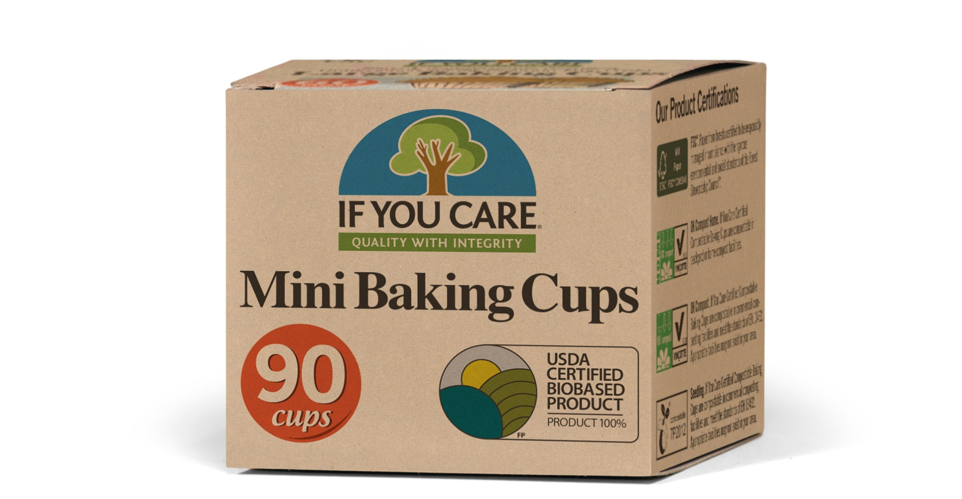 IF YOU CARE: Mini Baking Cups, 90 pc