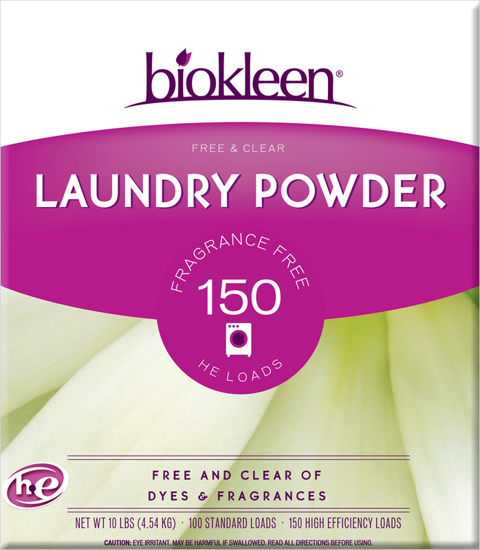 BIO KLEEN: Free & Clear Laundry Powder, 10 lb
