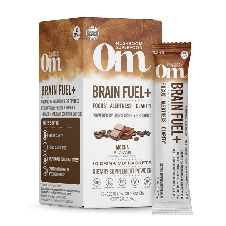 OM ORGANIC MUSHROOM NUTRITION: Mocha Brain Fuel Drink Stick, 2.6 oz