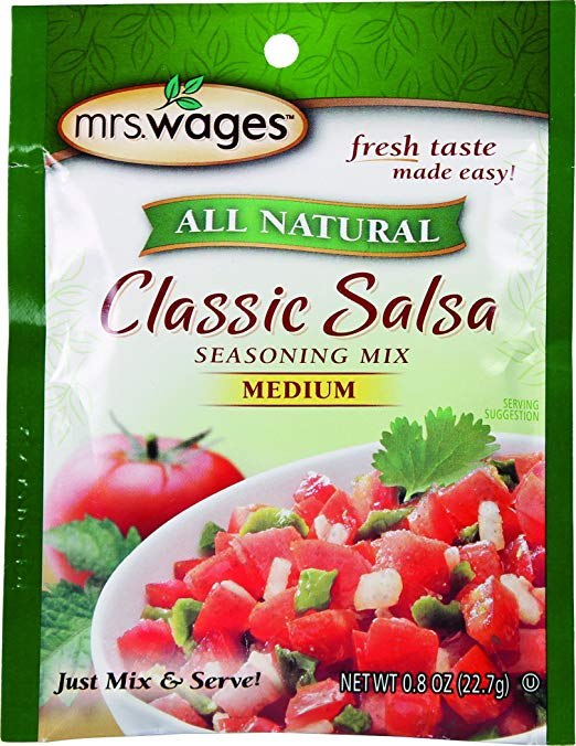 MRS WAGES: Classic Salsa Instant Mix, 0.8 oz