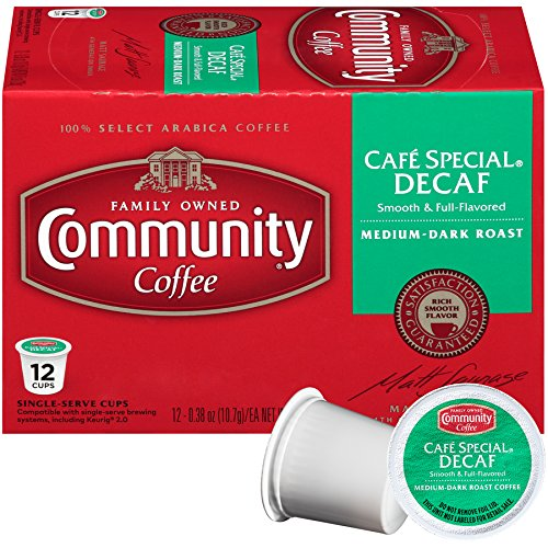COMMUNITY COFFEE: Cafe Special Decaf Single Serve Coffee Pods, 12 pc