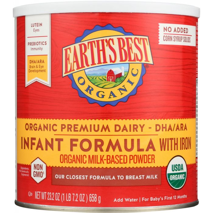 Organic infant formula to boost immune systems for babies and infants.
