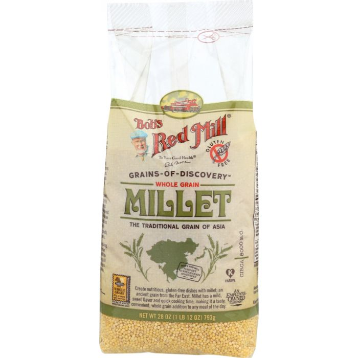 BOBS RED MILL: Whole Grain Millet, 28 Oz